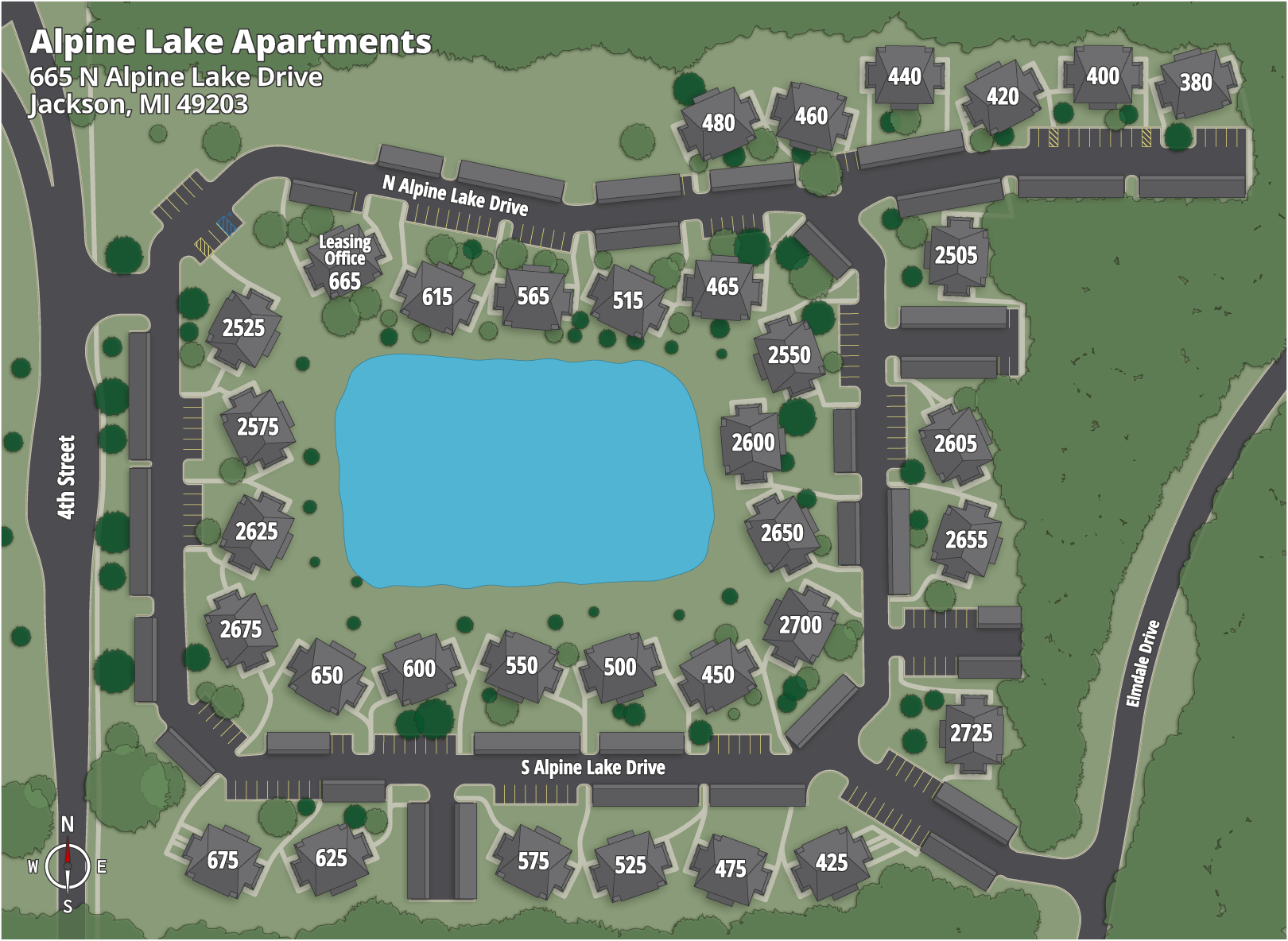 Alpine Lake Apartments Map