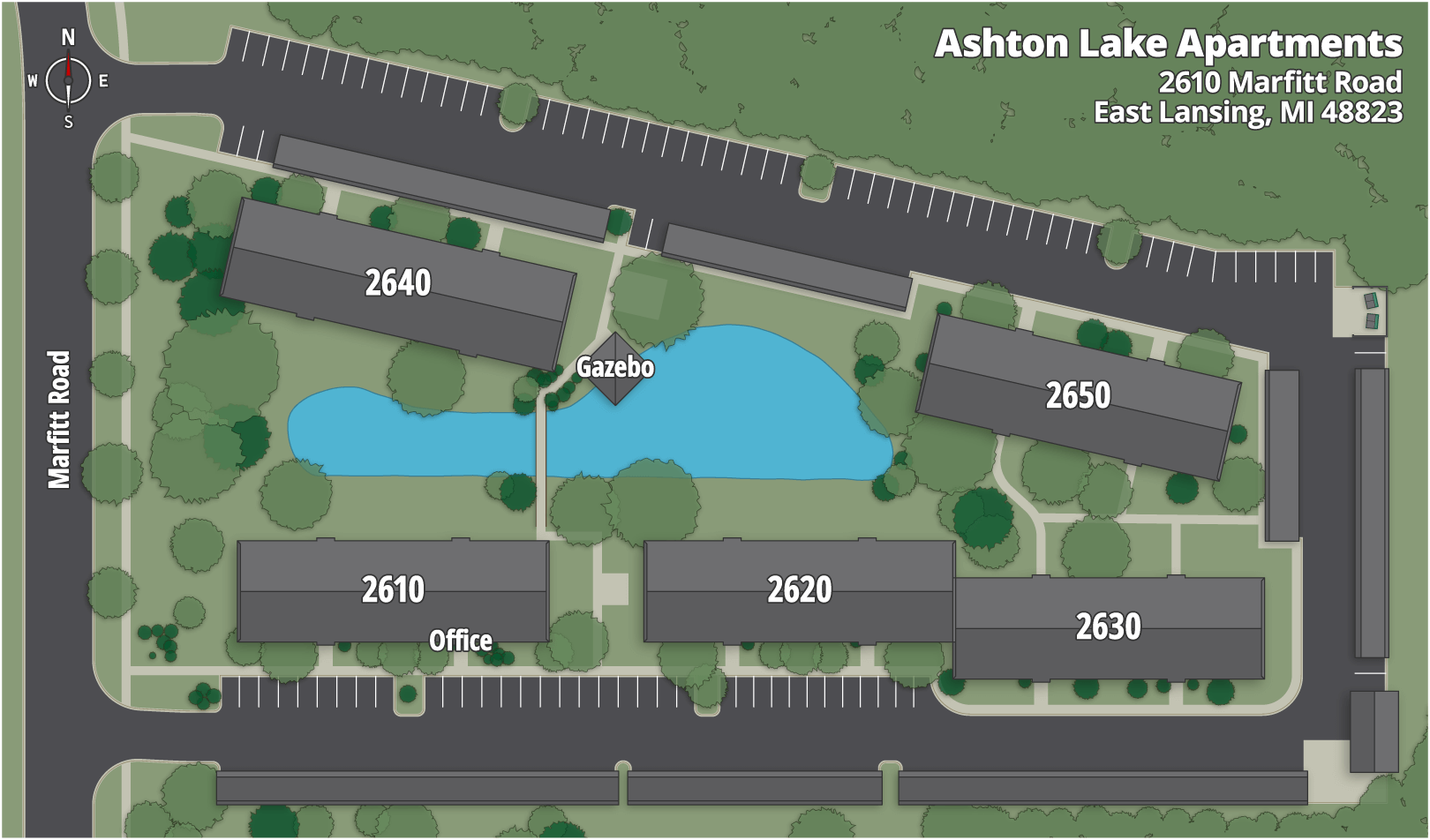 Ashton Lake Apartments Map