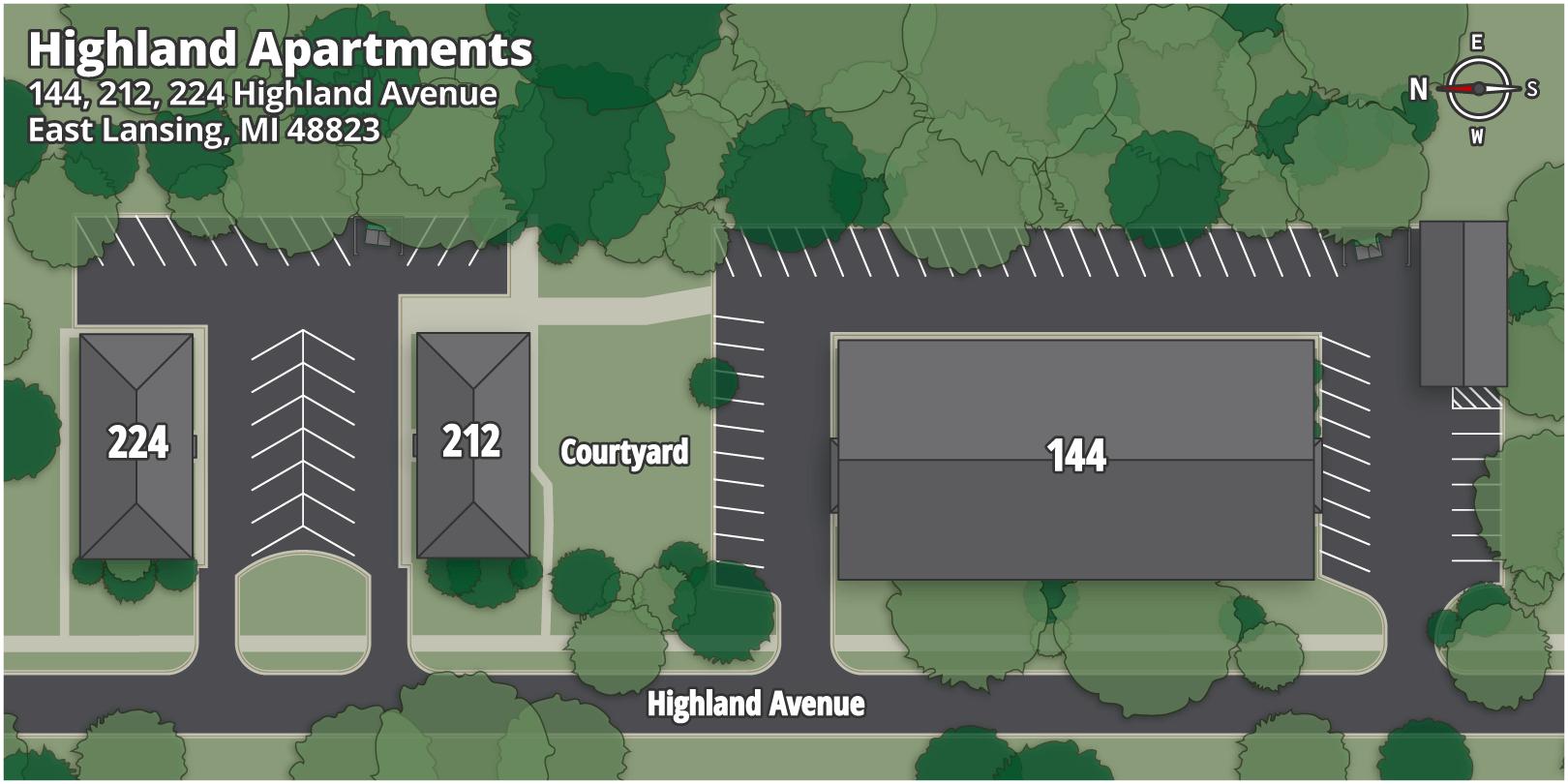 Highland Apartments Map