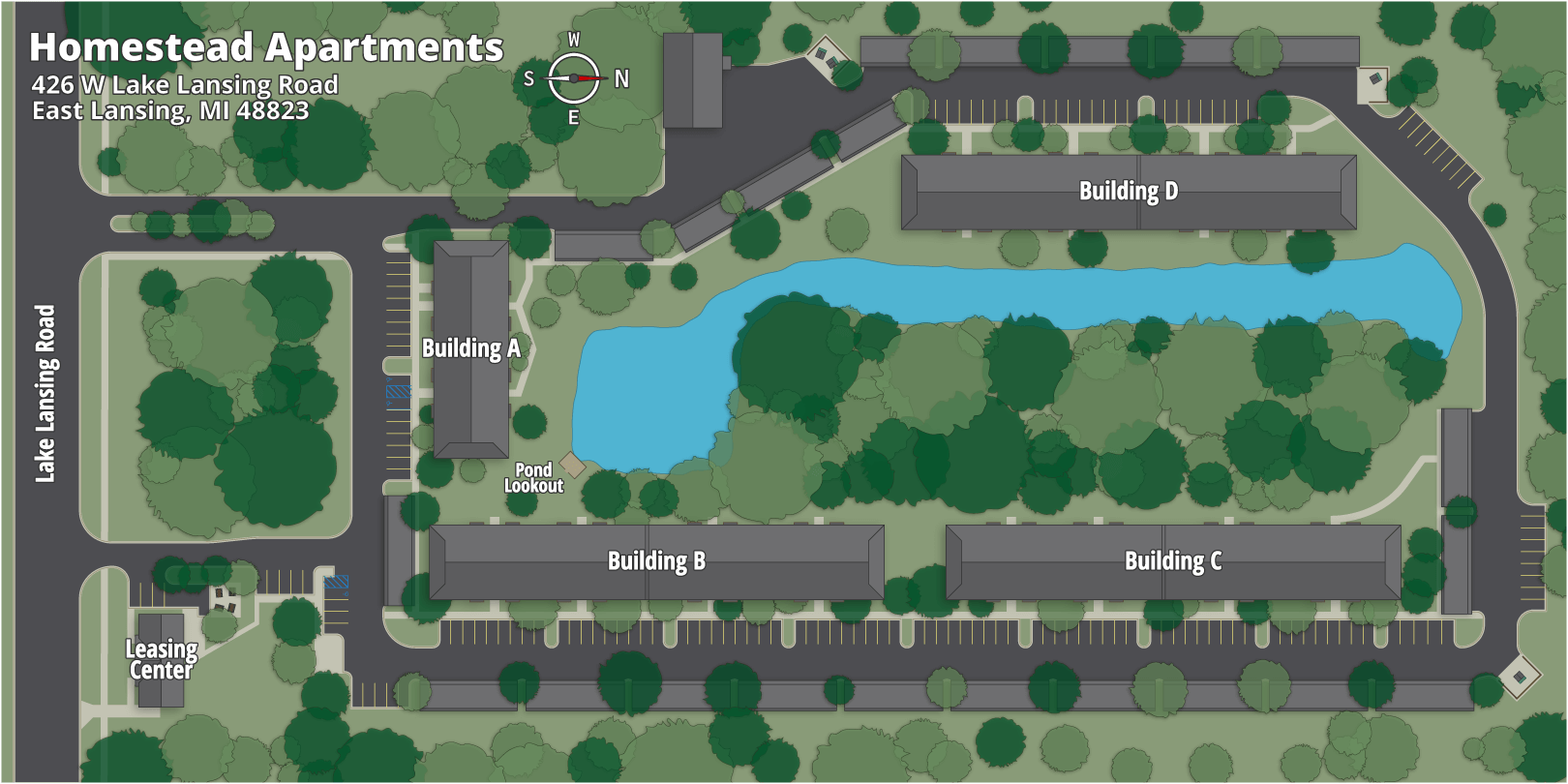 Homestead Apartments Map