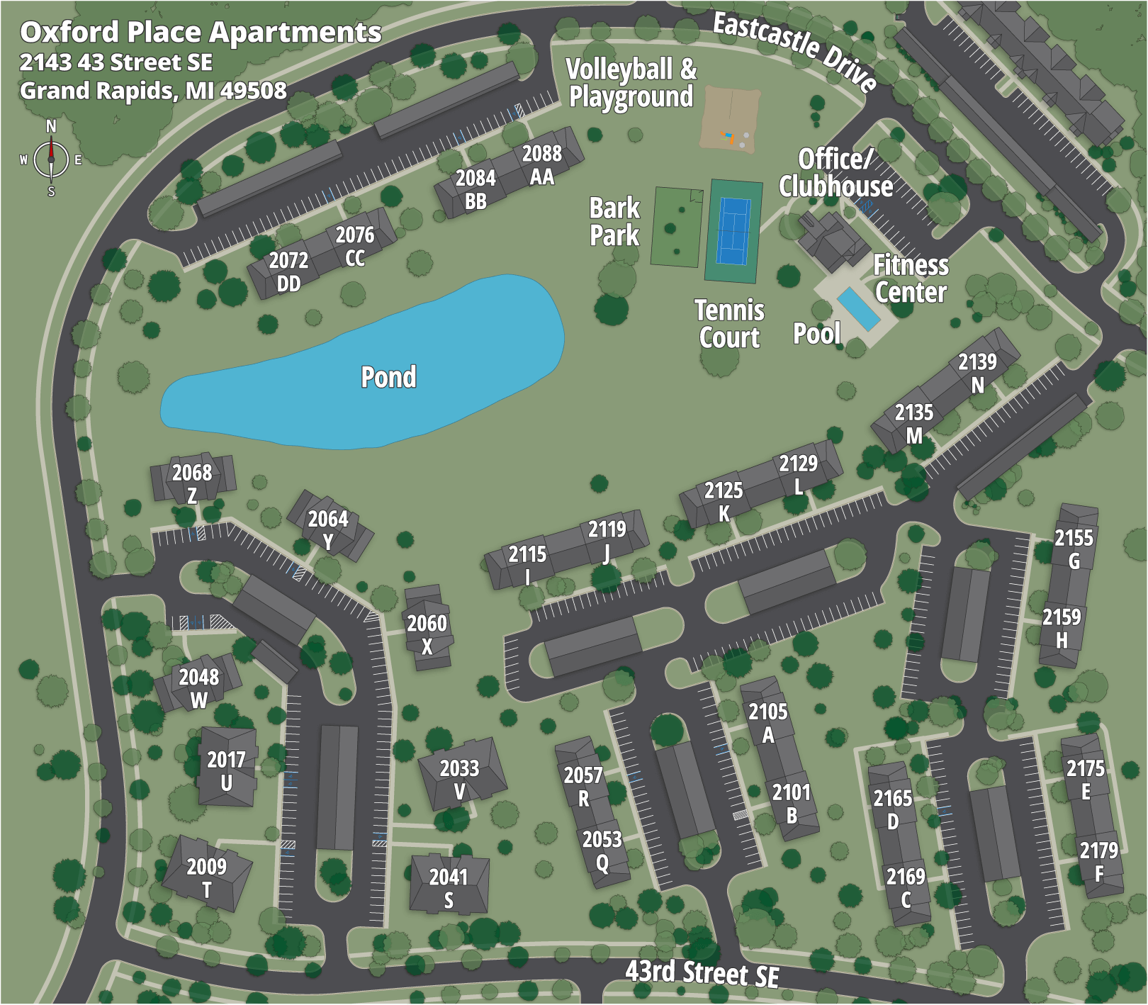 Oxford Place Apartments Map