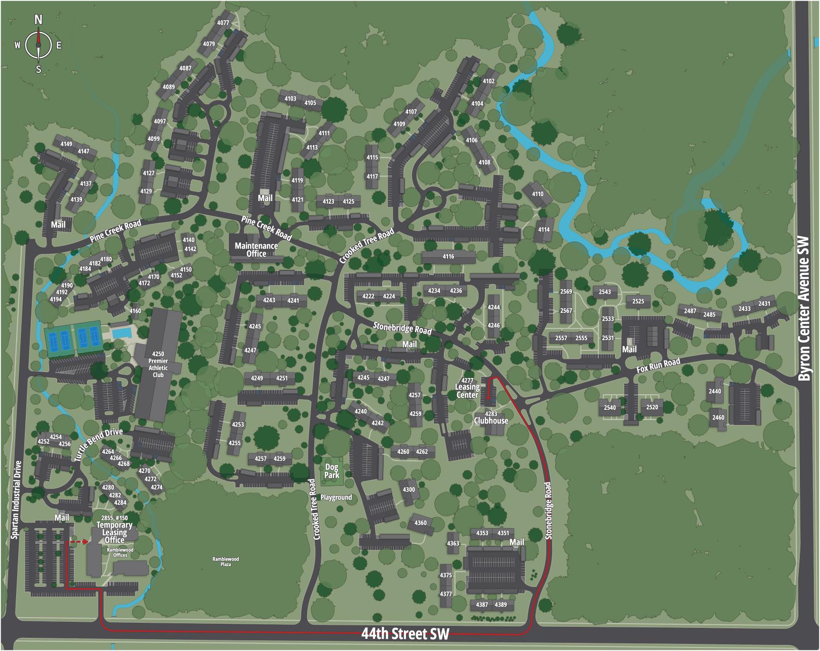 Ramblewood Apartments Map