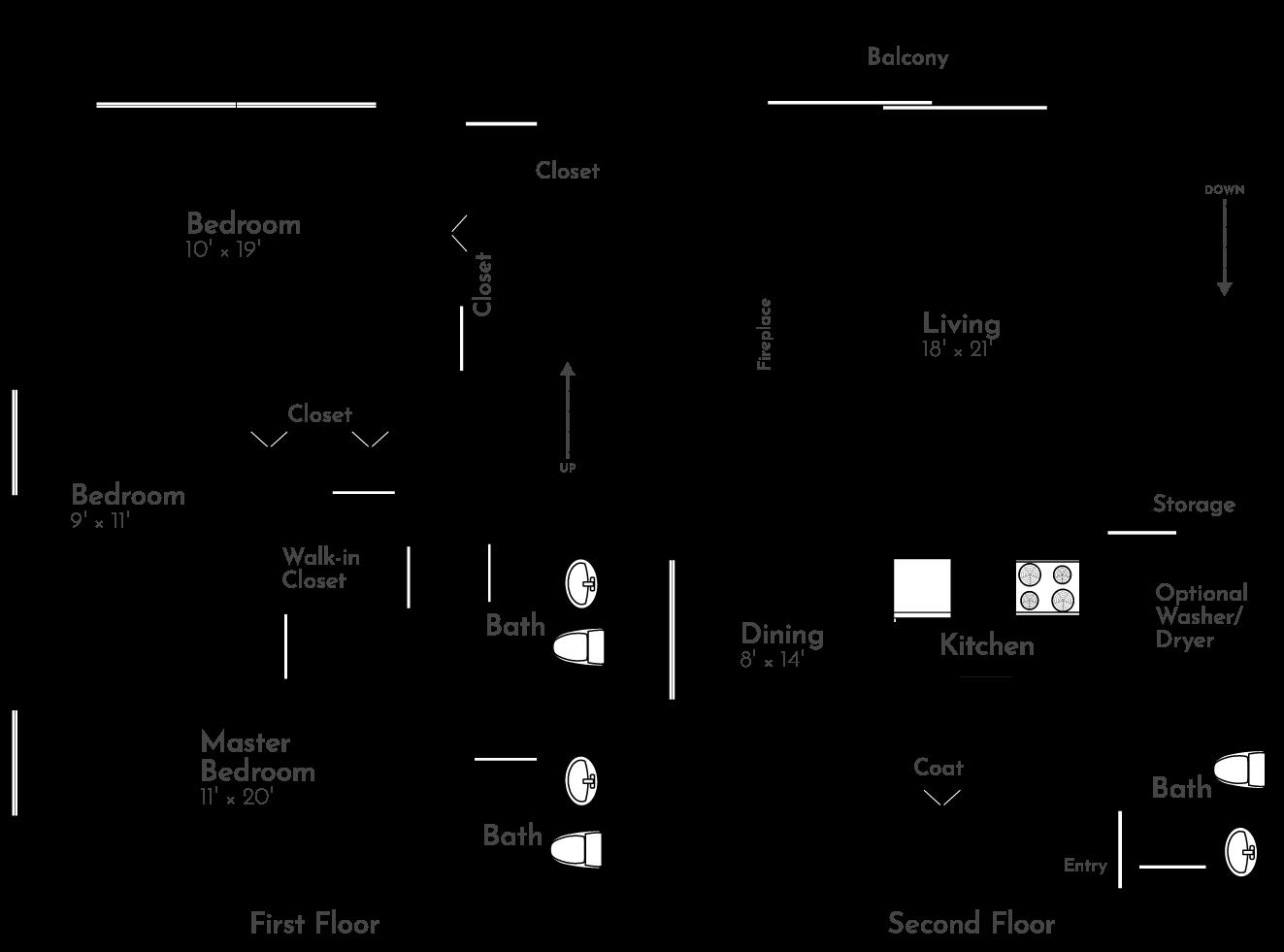 The Valley Floor Plan