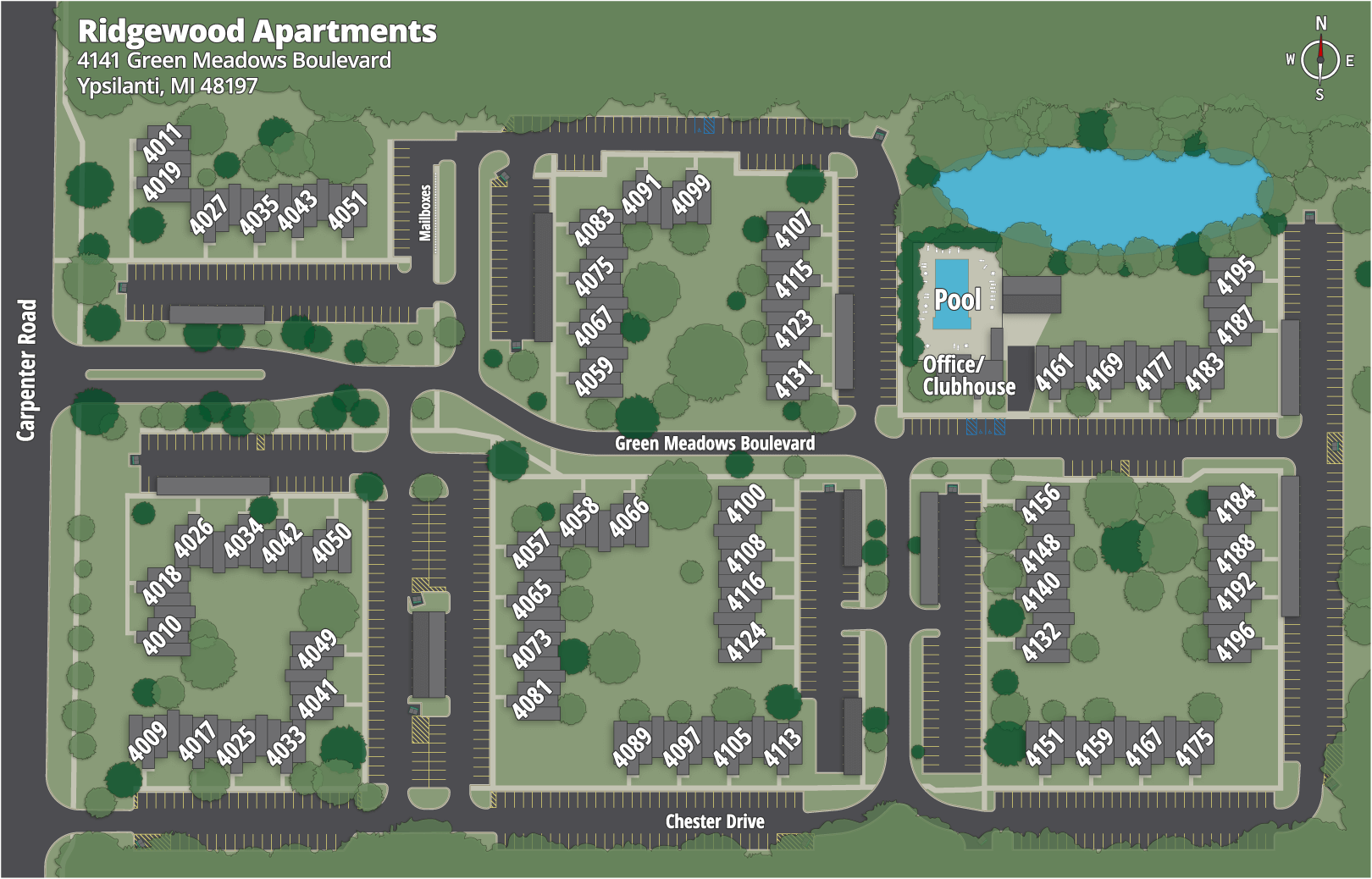 Ridgewood Apartments Map