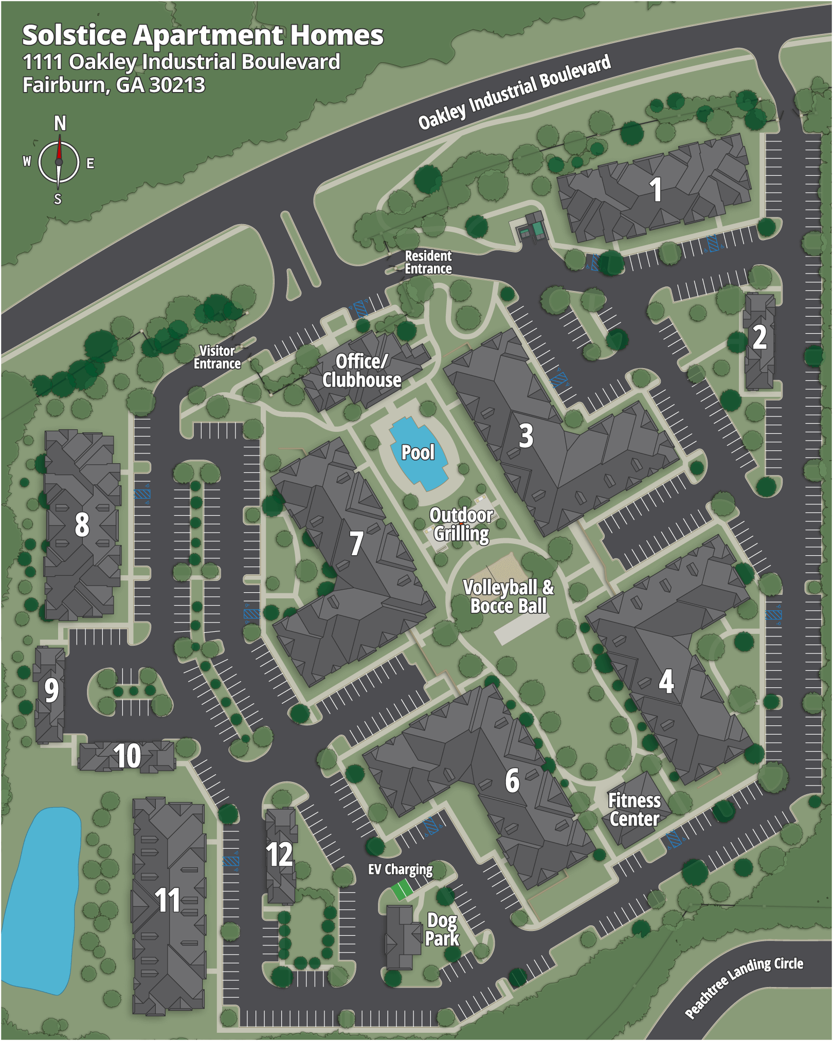 Solstice Apartment Homes Map