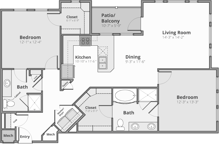 The Meridian Floor Plan