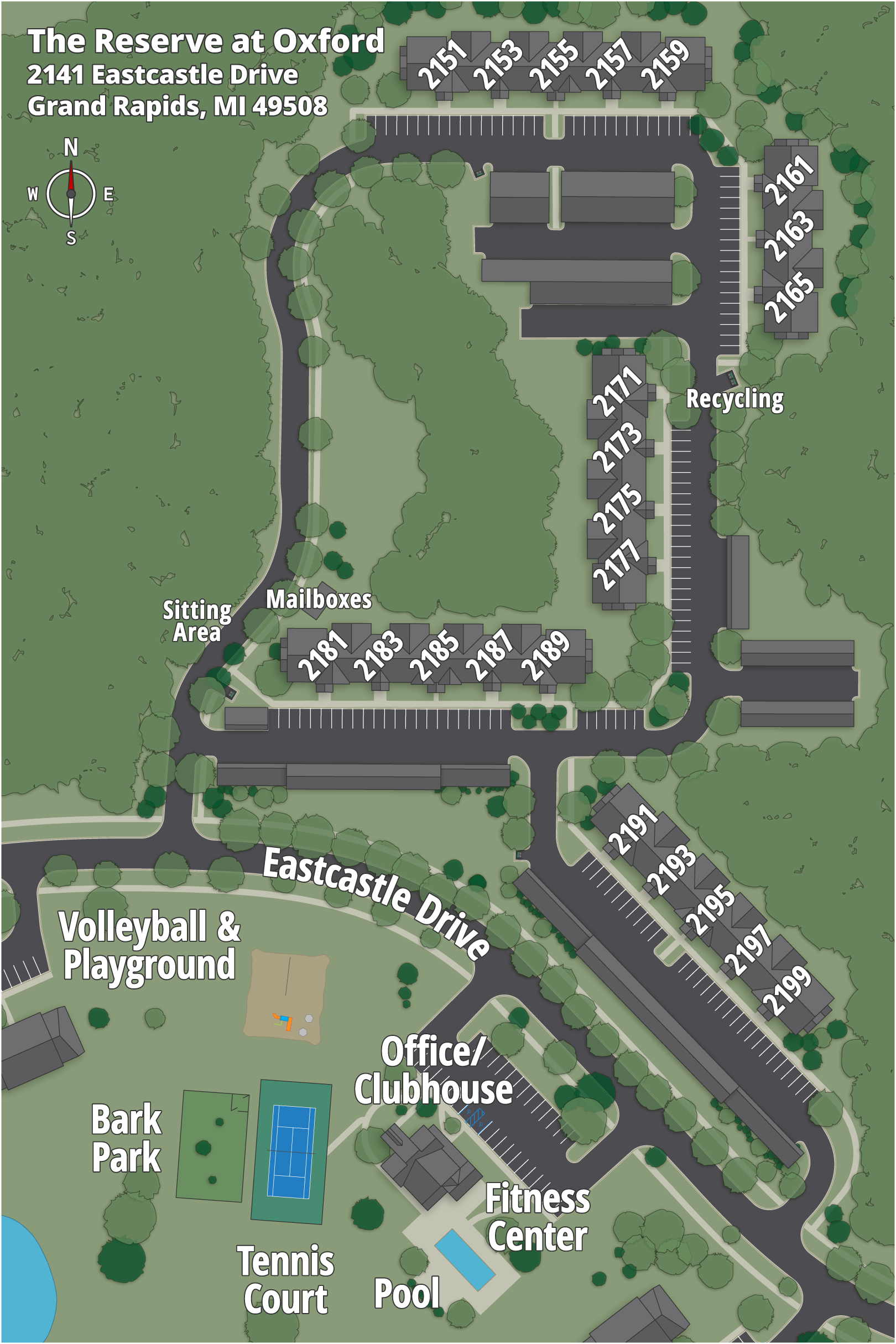 The Reserve at Oxford Map